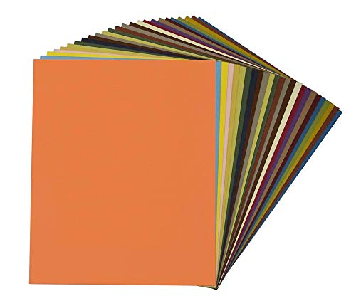 Mat Board Center, Pack of 25, 32x40 Uncut Mat Boards - Cream Core - Variety Pack - Assorted Colors - Full Sheet