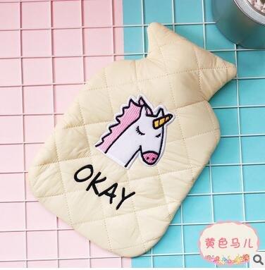 ative Cartoon Kawaii Smiling Face Animal Dog Cat Bear Unicorn Hand Feet Warming Hot Water Bottles Bag ()