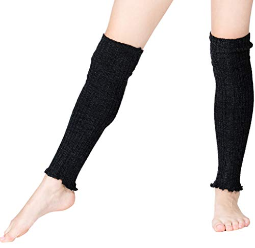 New York City Black KD dance New York 16 Inch Women's Leg Warmers Double as Arm Warmers Ribbed Stretch Knit Made In USA Ethical Sustainably Manufactured Tariff Free