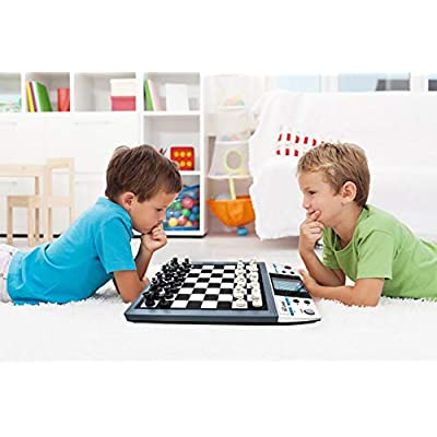 ICORE Electronic Travel Magnetic Talking Chess Board Games 8 in 1, Portable Game Boards Computer Chess Set, Chessboard Checkers No Stress for Kids Adults: Toys & Games