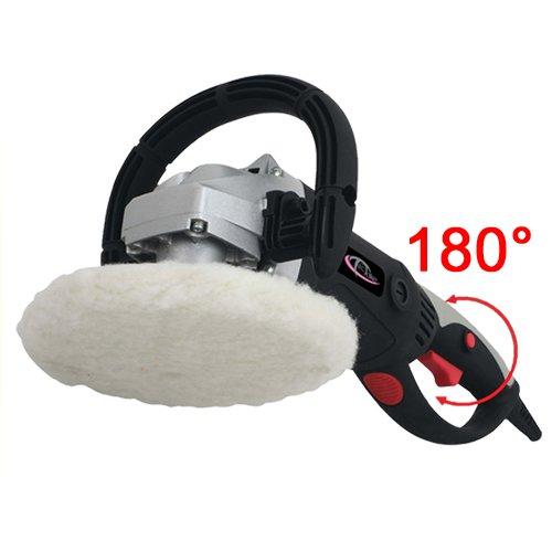 TecTake® Poliermaschine 1500 Watt mit Drehgriff 0-3000 U/min + Set11 inkl. Nanopolitur