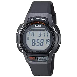 Casio Men's 10- Year Battery Quartz Sport Watch with Resin Strap, Black, 18.6 (Model: WS-1000H-1AVCF)