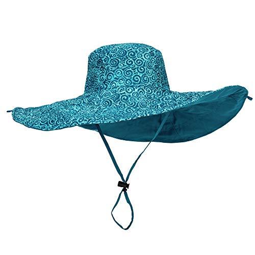 Laurel Burch Reversible Sun Hat (Teal Swirl)
