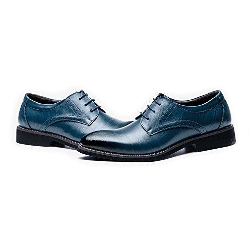 los Low Vino Top 42 Hombres Azul Hombre shoes Fang Oxfords EU Respirables Negocios Forrados Cordones 2018 con Tamaño Cuero Color Zapatos de Zapatos de Genuino de TzTwa1q