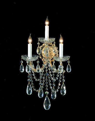 (Maria Theresa 3 Light Wall Sconce Finish: Chrome, Crystal: Swarovski Strass)