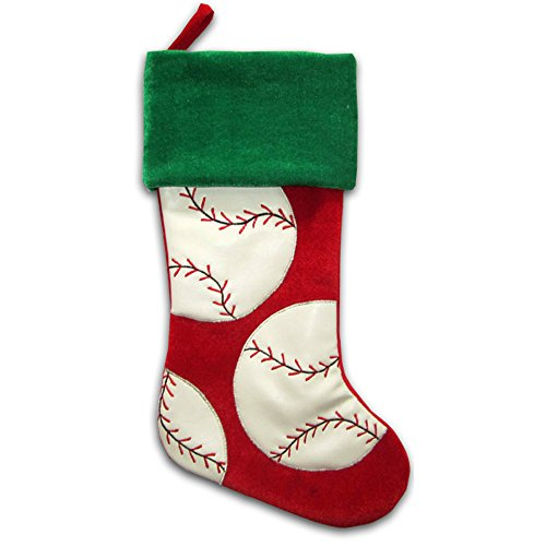 "20"" Baseball Sports Christmas Stocking (Baseball) -"
