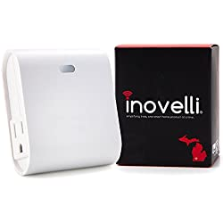 Dual Z-Wave Plug w/Built-In Repeater | Control 2 Outlets Individually w/1 Module | Zwave Switch (Appliance & Light) w/a Z-Wave Range Extender | SmartThings, Wink Compatible | Inovelli
