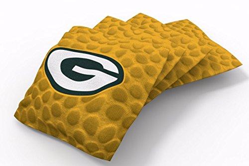 PROLINE 6x6 NFL Green Bay Packers Cornhole Bean Bags - Pigskin Design (B) (Toss Bag Bean Green Bay)