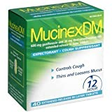 Mucinex Dm-expectorant/cough Suppressant, 80 Tablets (2 Packs of 40 Count)