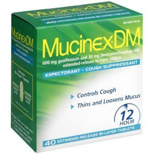 Mucinex Dm-expectorant/cough Suppressant, 80 Tablets (2 Packs of 40 Count) by Mucinex