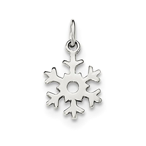 Best Designer Jewelry Sterling Silver Polished Snowflake -