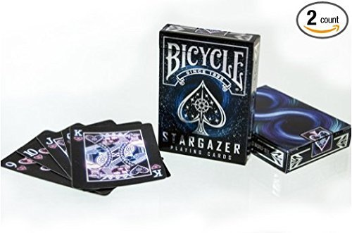 Price comparison product image 2 Decks Bicycle Stargazer Black Hole Standard Poker Playing Cards