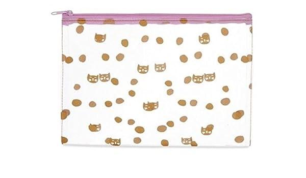 Primark damas niñas gabreilla Cat terciopelo Ghost Make Up neceser Vanity BAGM: Amazon.es: Belleza