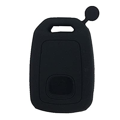 Ezzy Auto Pack of 2 Black Silicone Key Fob Case Key Cover Jacket Holder Protector fit for 2013-2020 Honda Accord Sports: Automotive