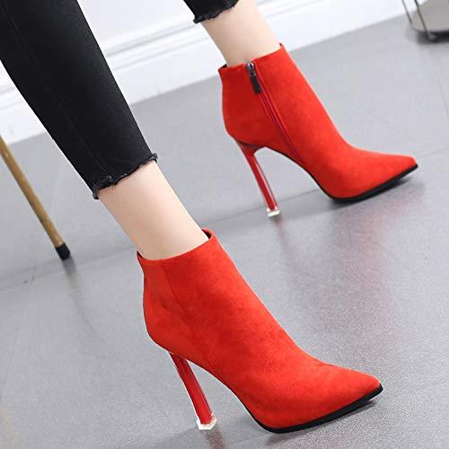 HRCxue Pumps Martin Stiefel Stiefel Stiefel - Wildleder-Stiefeletten aus Wildleder mit schlanken High-Heels-Stiefeln und nackten Stiefeln df9eca