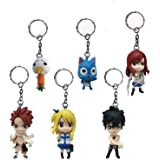 Generic Anime Characters Keychains Set (6 Fairy Tail)