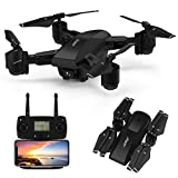 GPS Drone,JJRC 5G WiFi FPV Foldable Drone with 1080P Camera Live Video,Follow me,Altitude Hold,Smart Return to Home Folding Drone for Adults (Black)