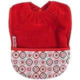 Silly Billyz - Babero con bolsillo (algodón), diseño con corazones, color rojo