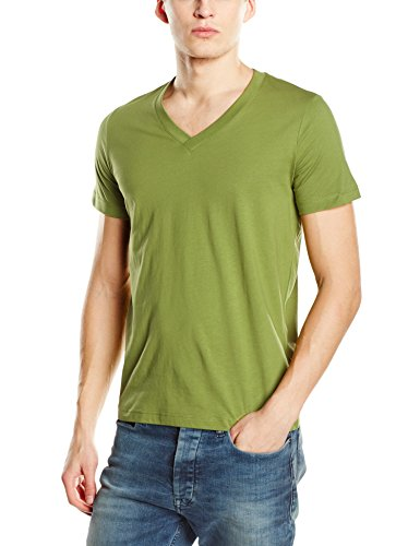 Earth Apparel neck shirt Green Stedman Premium James st9210 T v Uomo HwnqOTR