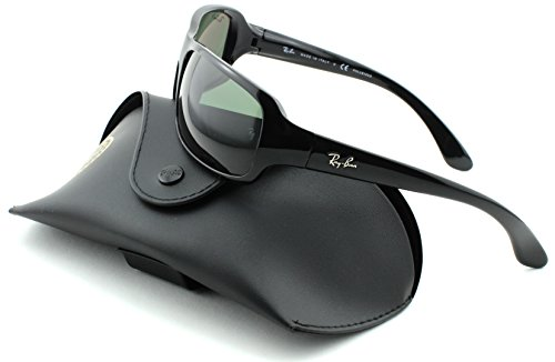 7d600c274e4 Ray-Ban RB4075 Unisex Rectangular Sunglasses (Black - Import It All