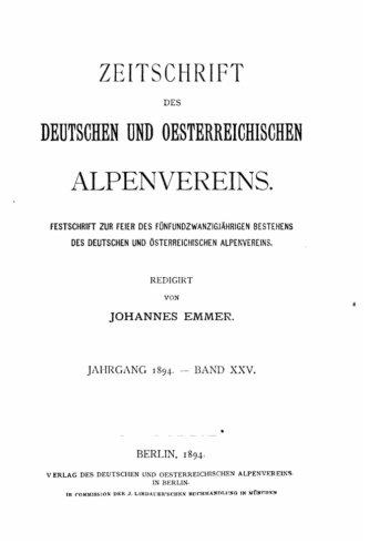 Read Online Zeitschrift des Deutschen und Oesterreichischen Alpenvereins - Band XXV (German Edition) ebook