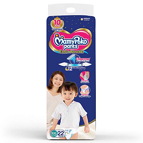 MamyPoko Pants Extra Absorb Diapers, XXL  Pack of 22
