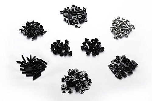 Moto Onfire 124PCS Black Fairing Bolt Kit Fasteners Screw DUCATI SUPERSPORT 620 750 800 900 by Moto Onfire (Image #2)