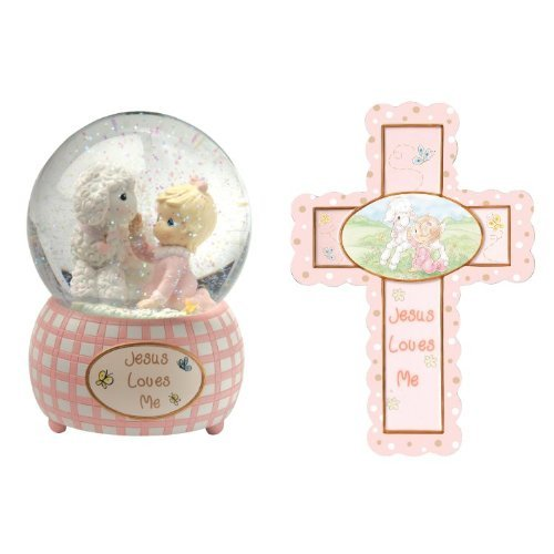 Precious Moments, Baby Gifts, Jesus Loves Me Resin Musical Snow