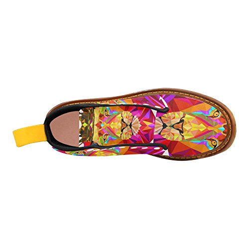Leone Con Impronta Di Interessi Con Corona Stringata Stivali Scarpe Moda Per Donna