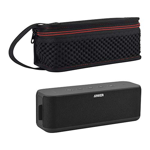 TXEsign Home/Outdoor Protective Travel Lycra Zipper Carrying Case Bag for Anker SoundCore Boost 20W Bluetooth Speaker