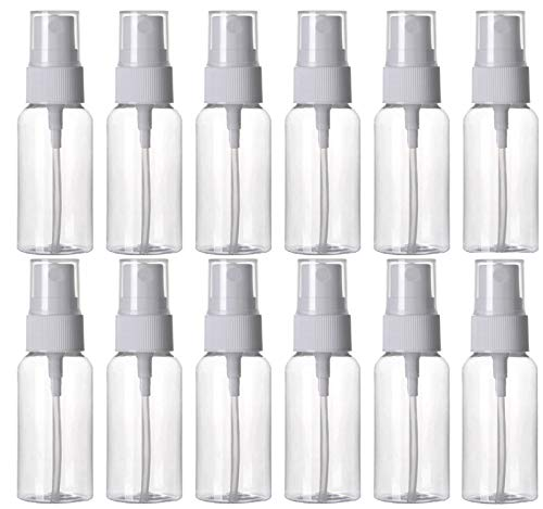 - HOSL 1 Ounce Refillable Fine Mist Spray Bottle Perfume Sprayer Bottle Cosmetic Atomizers PET Spray Bottles Pump Pack of 12