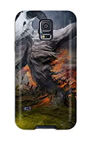 Durable Defender Case For Galaxy S5 Tpu Cover(dark)