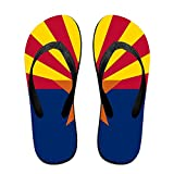 Flag Of Arizona Funny Flip Flops For Children Adults Men And Women Beach Sandals Pool Party Slippers