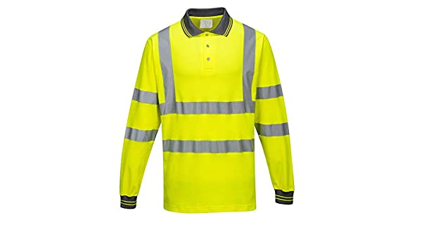 Portwest S271YERS - Polo de algodón (talla L), color amarillo ...