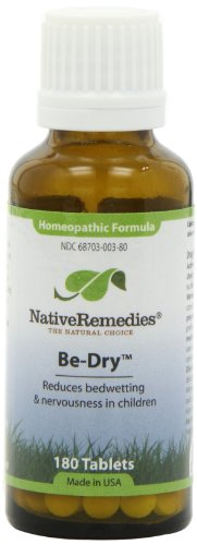 Native Remedies Be-Dry Bedwetting Formula Tablets, 125-Count Bottle