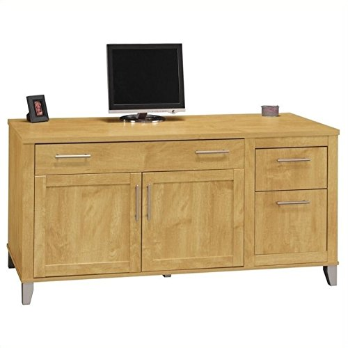 Somerset Collection 60W Computer Credenza - Maple Office Media Storage