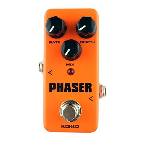 (FPH2 Phaser Mini Guitar Effect Pedal Warm Analog Phase Sound Processor Orange)