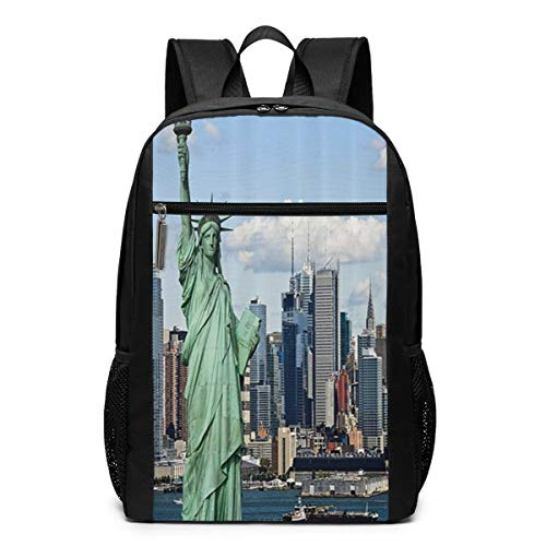 Oswz New York Statue of Liberty in NYC Laptop Backpack for Women Men Stylish Backpack College School Backpack Business Travel Durable Backpack Fit Laptop (Best Overnight Hikes In New York)