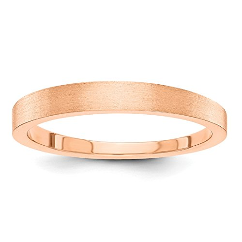 Ring Tapered Personalized (ICE CARATS 14kt Rose Gold 3mm Tapered Wedding Ring Band Size 4.50 Classic Fine Jewelry Ideal Gifts For Women Gift Set From Heart)