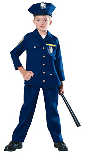 [Young Heroes Child Police officer Costume, Medium] (Policeman Hat Costume)