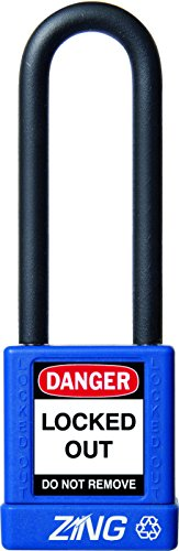 ZING 7049 RecycLock Safety Padlock, Keyed Alike, 3'' Shackle, 1-3/4'' Body, Blue by Zing Green Products (Image #2)
