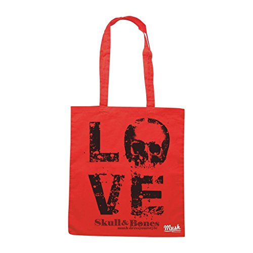 Borsa Love And Skull - Rossa - Mush by Mush Dress Your Style
