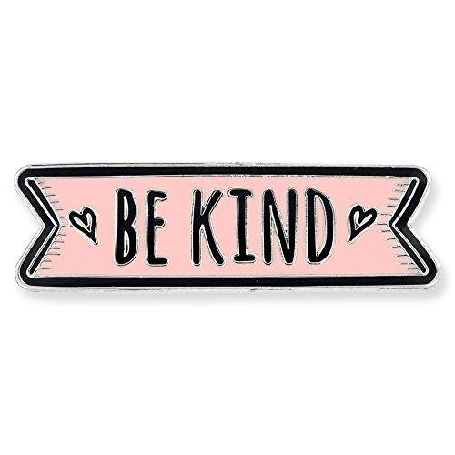 discount PinMart Pink Be Kind Motivational Cute Enamel Lapel Pin