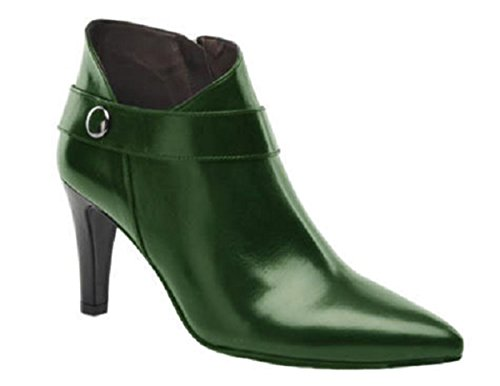 Elegant Leather Boots Ashley by HGilliane Design EU 33 to 44 Customized only Vert Bouteille kzt0Dh