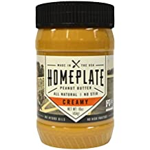 Peanut Butter, Creamy, All Natural, No Stir, Non-GMO, 16 oz. Jar by HomePlate Peanut Butter