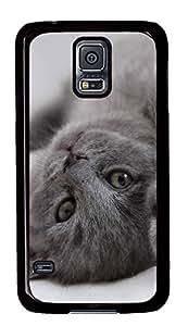 Samsung Galaxy S5 Naughty kitten PC Custom Samsung Galaxy S5 Case Cover Black