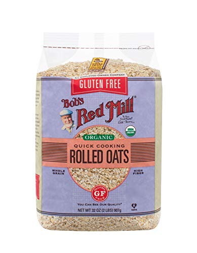 Bob's Red Mill Gluten Free Organic Quick Cooking Rolled Oats, 32 Oz (4 Pack)