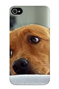 New Style Tpu 4/4s Protective Case Cover/ Iphone 4/4s Case - Brown Puppy