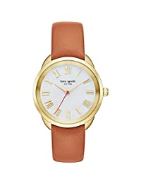 Kate Spade New York Women's Crosstown Watch, Gold/Brown, One Size