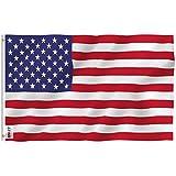 Anley Fly Breeze 90 x 150 cm Bandera Americana USA Poliéster - Colores Vivos y Resistentes a Rayos UVA - Bordes Reforzados con Lona y Doble Costura - Banderas de EE. UU. con Ojales de latón de